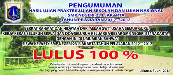 Spanduk Lulus 2013